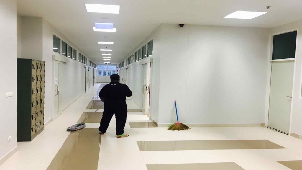 Lady Cleaning A School-Janitorial Services-Commercial Cleaning Greensboro High Point NC-True Clean Experience-2307 West Cone Blvd Suite G, Greensboro NC